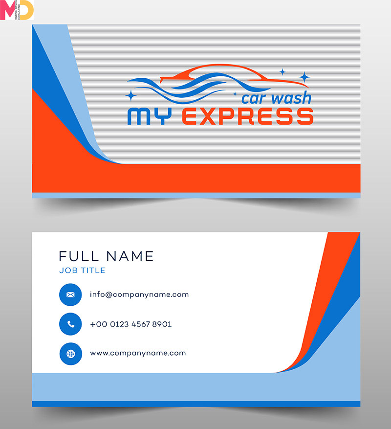 MyExpress Car Wash branding card design by Mindful Design Consulting team