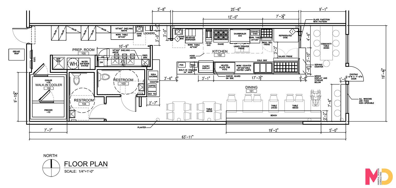Sample of floor plan you will obtain from your restaurant designer