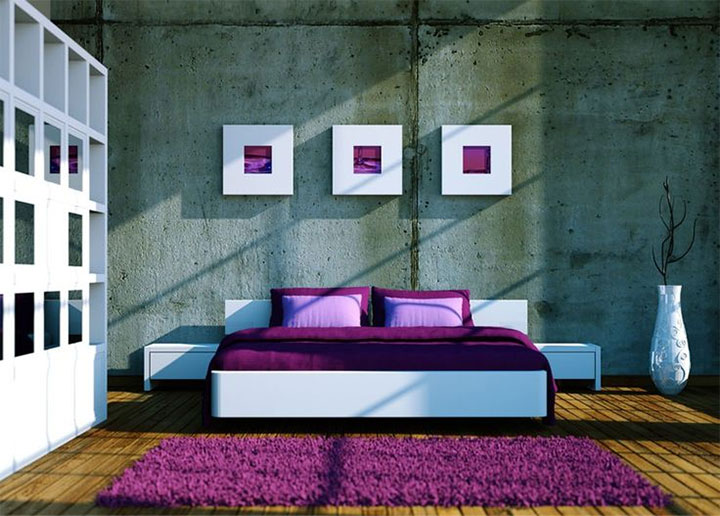 2018 Pantone color in wall decor, carpets and bedding