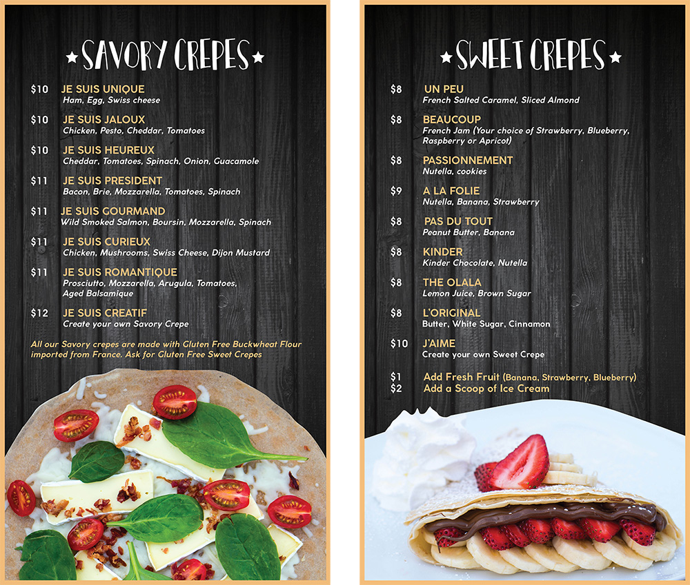 Menu Design by Mindful Design Consulting