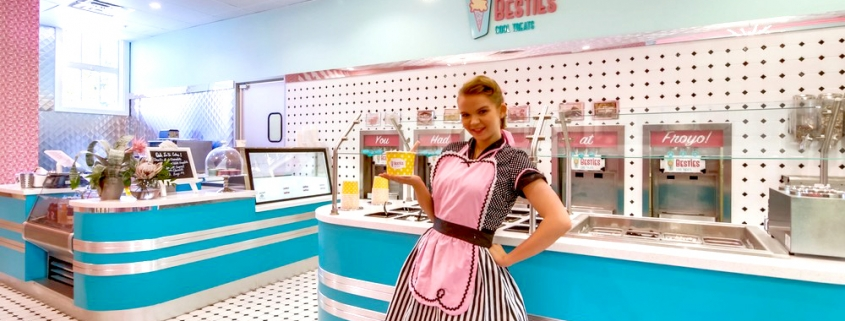 Frozen Yogurt Shop Design and Branding
