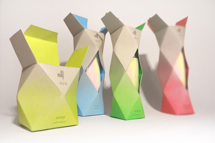 Cosmetic Product Branding and Packaging Mixes Geometry and Color