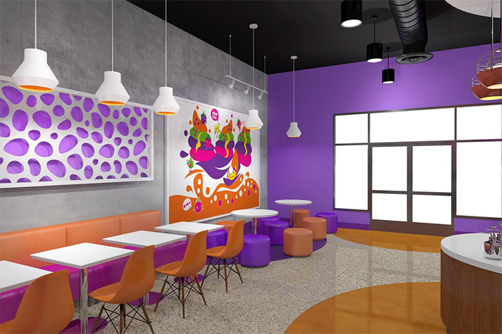 Frozen Yogurt and Boba Tea Store Design