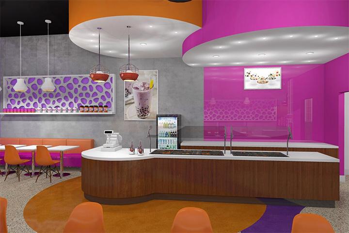 Yogurt and Boba Tea Store Design Ideas