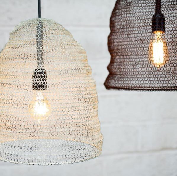 Beehive-Metal-Wire-Mesh-Light-Pendant-Bohemian-Decor