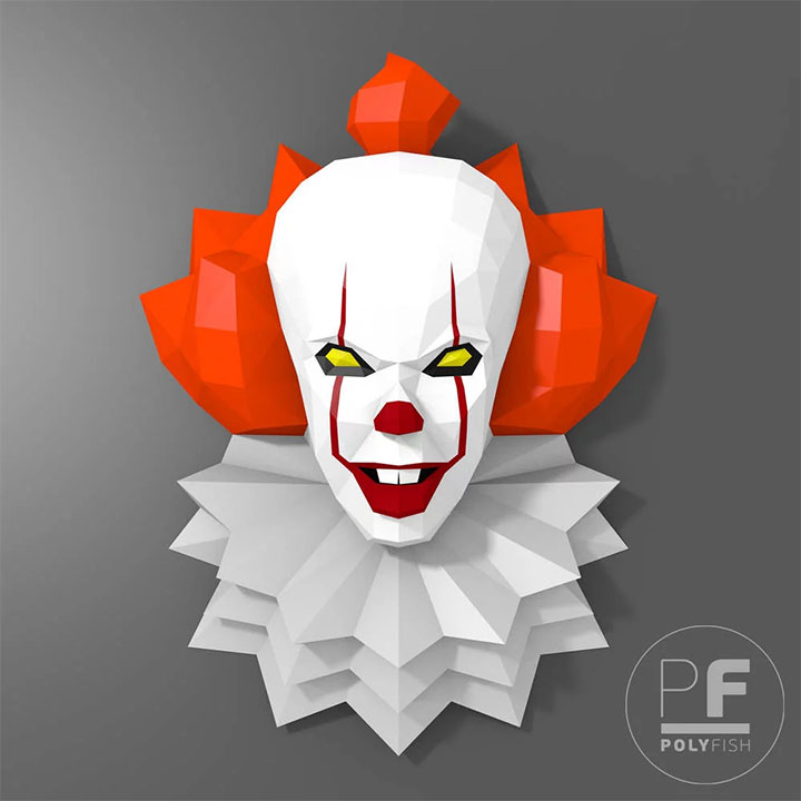Halloween-Decor-Ideas-Cafe-Paper-Clown