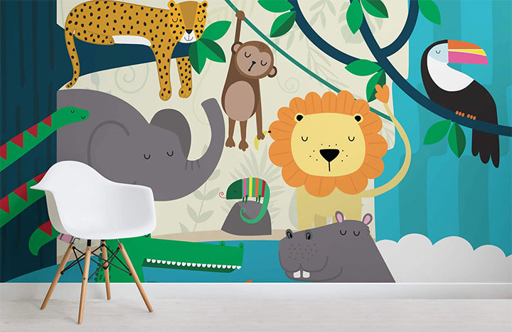 Kids-Mural-Wall-Paper-Commercial-Interior-Design