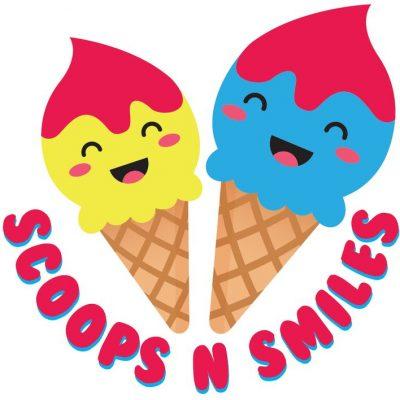 Colorful logo design for ice cream store