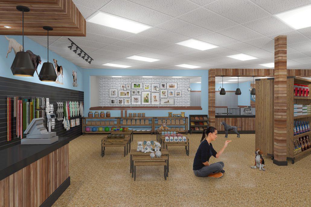 Pet store interior design