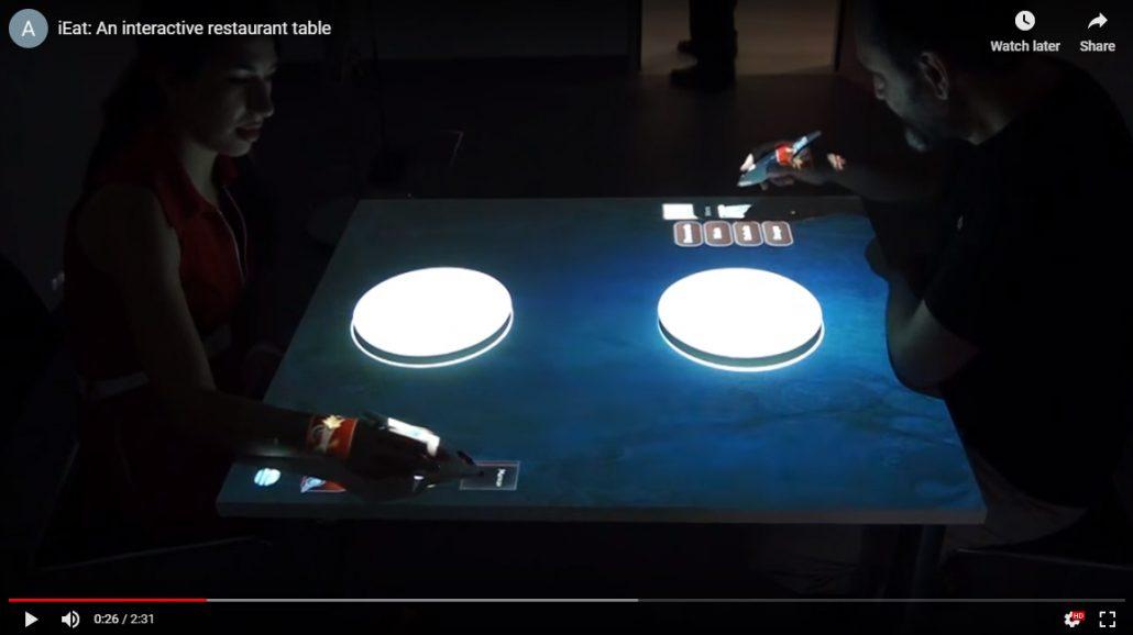 Tabletop interactive menu restaurant technology