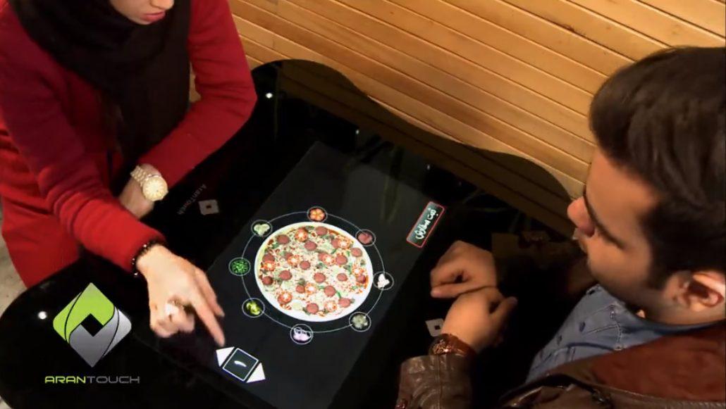 Tabletop menu restaurant technology