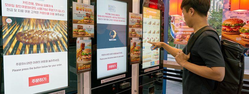ouchScreen ordering menu in restaurants