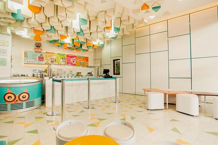 Ice Cream Shop Interior Design Recreates The Look Of Stalactites Mindful Design Consulting