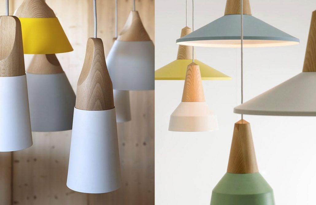 LundLund Minimalist Scandinavian Wooden Pendant Light.