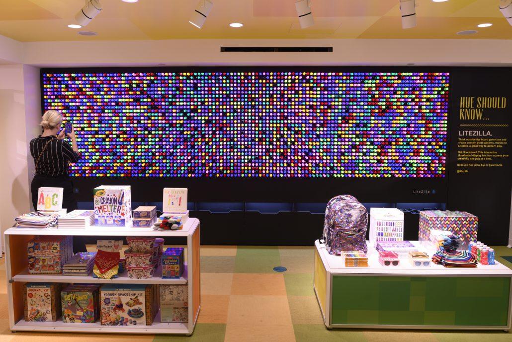 Light Wall at Macy's interactive