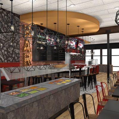 El Pueblo Mexican Restaurant Design salsa bar
