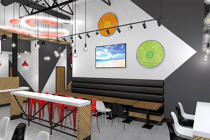 Kung Fu Boba Tea Shop Design