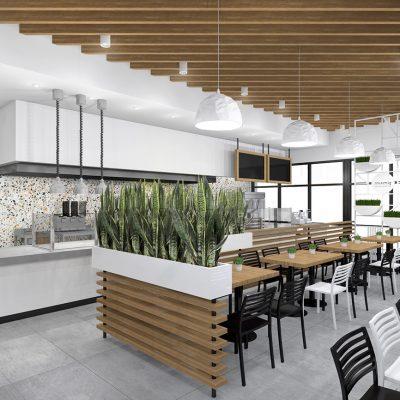 SimSim restaurant design white colors