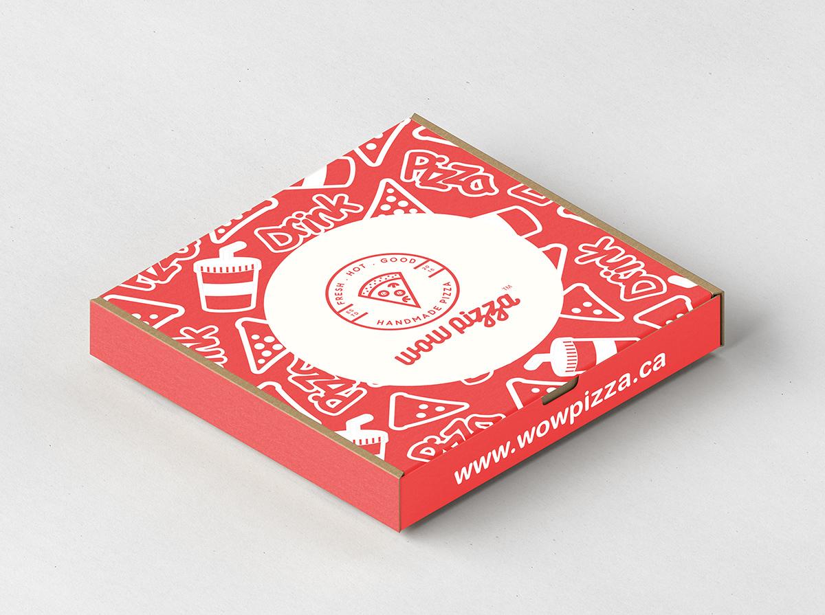Wow Pizza Box Graphic Design