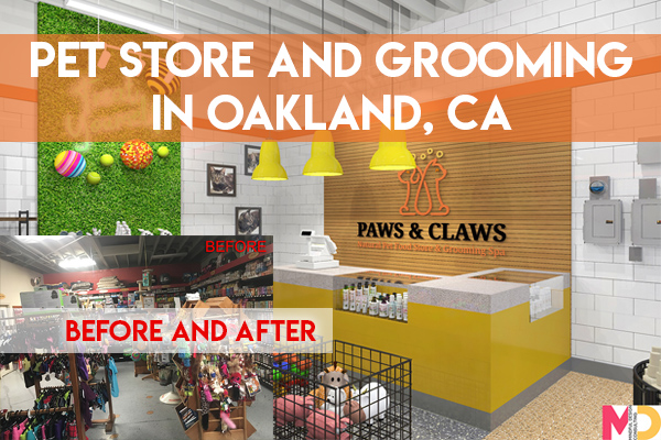 Before and After Pet Store Interior Design