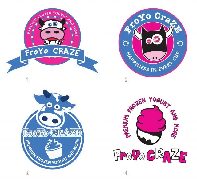 Logo version evolution for frozen yogurt store