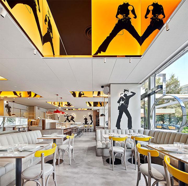 Retro restaurant design with photography theme