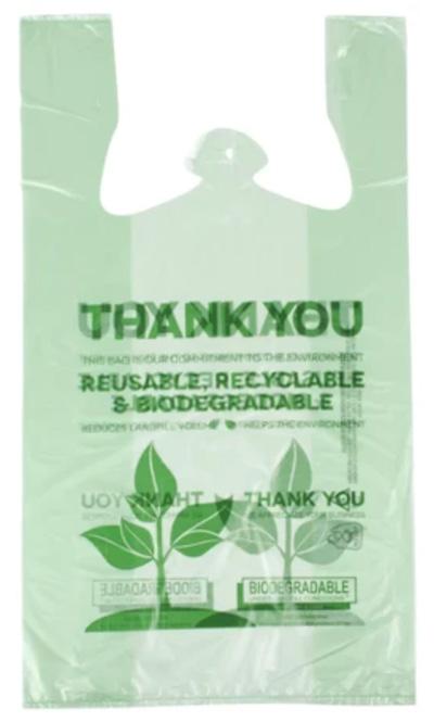 Biodegradable bag supplies for frozen yogurt