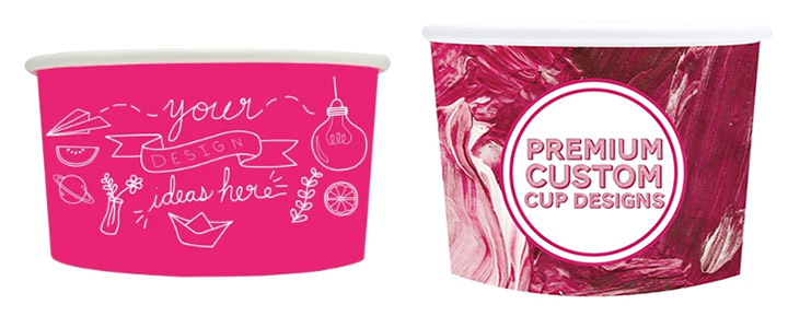 Container supplies for ice cream shops