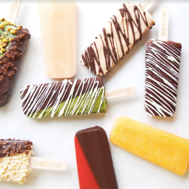 Colorful display of frozen treats