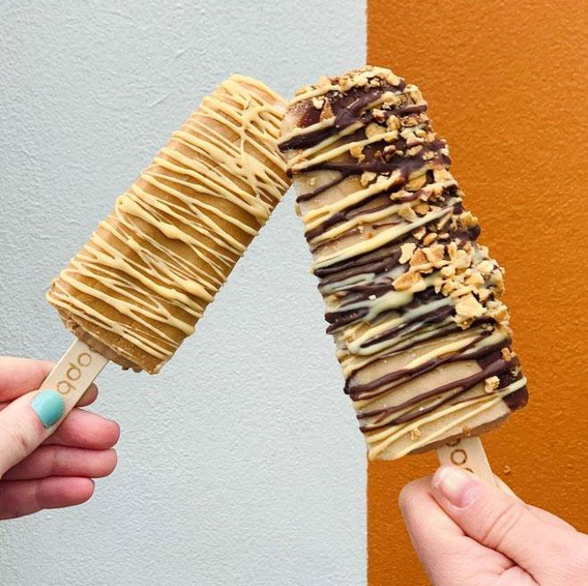 Frozen dessert on a stick