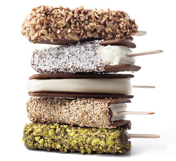Stack of gelato-on-a-stick treats