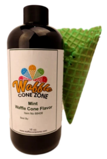 Bottle of colored waffle-cone flavor