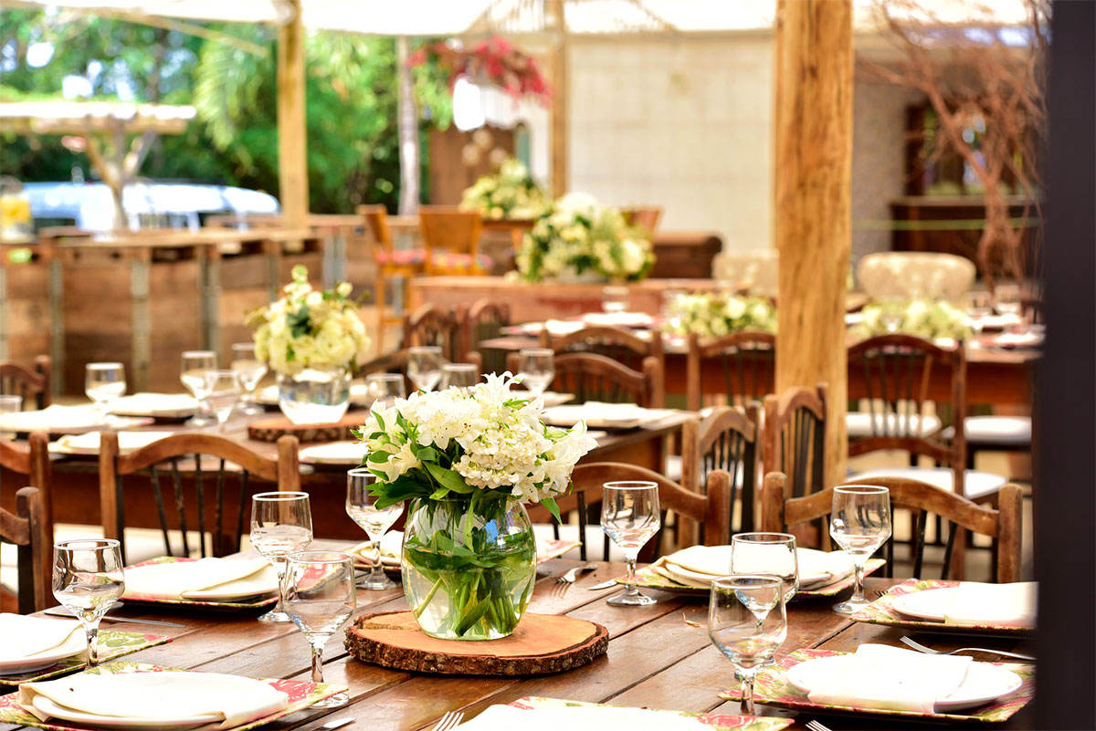 Flowers in Restaurant on Tables Idea