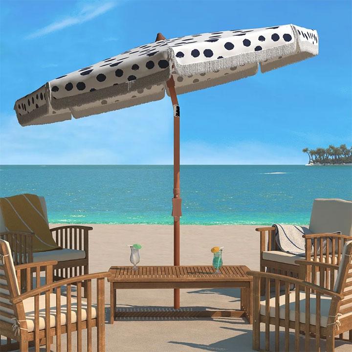 Fun Polka Dot Umbrella for Outdoor Area