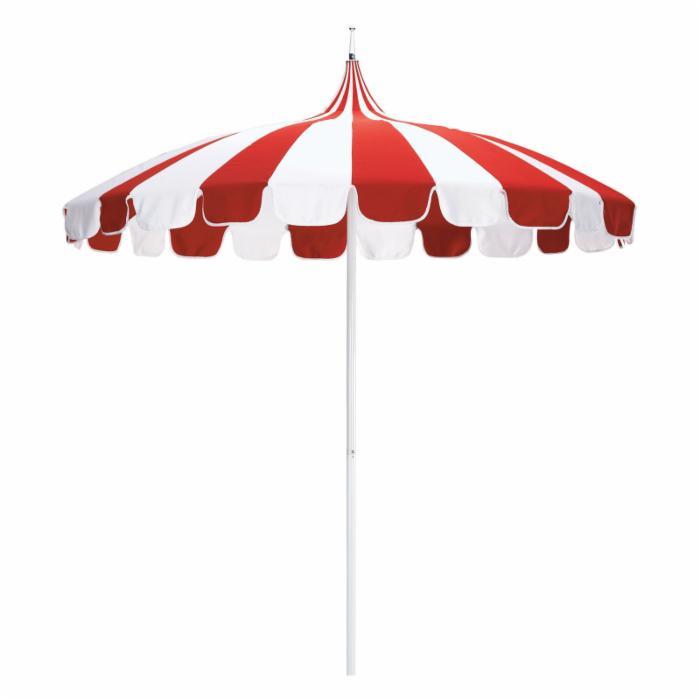 Fun Striped Umbrella For Restaurant Patiio