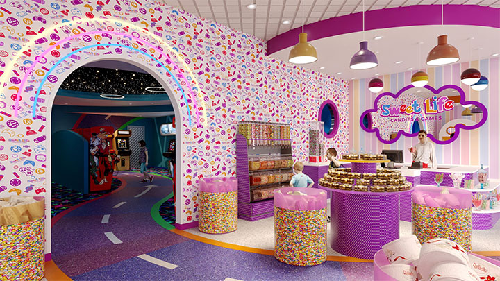 Candy pattern wallpaper for candy interior