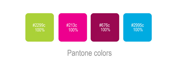 Pantone colors for Sprinkles on Top store design