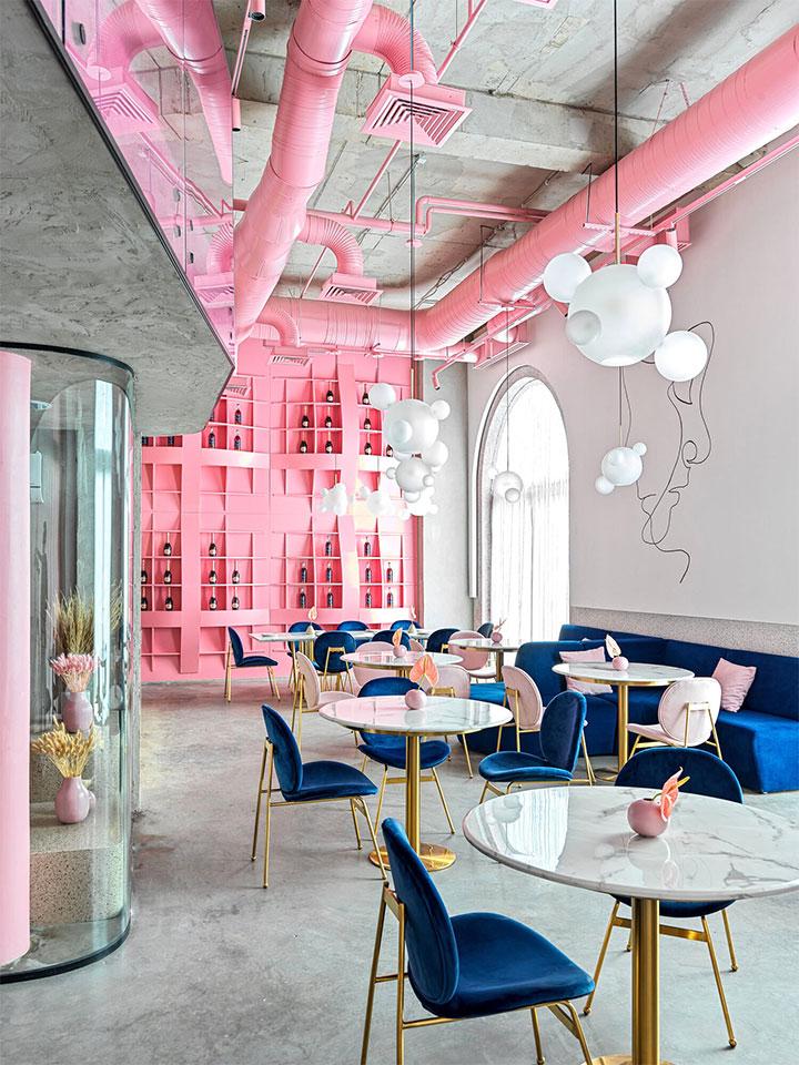 Elegant accents in modern restaurant design